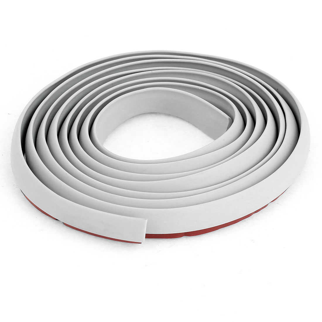 Unique Bargains Car Truck Door Edge Brim Guard Molding Trim Strip Gray 1.7M Length 12mm Width