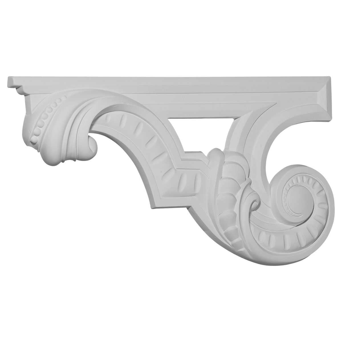 Ekena Millwork 6 5/8''H x 12 3/8''W x 3/4''D Scroll Stair Bracket