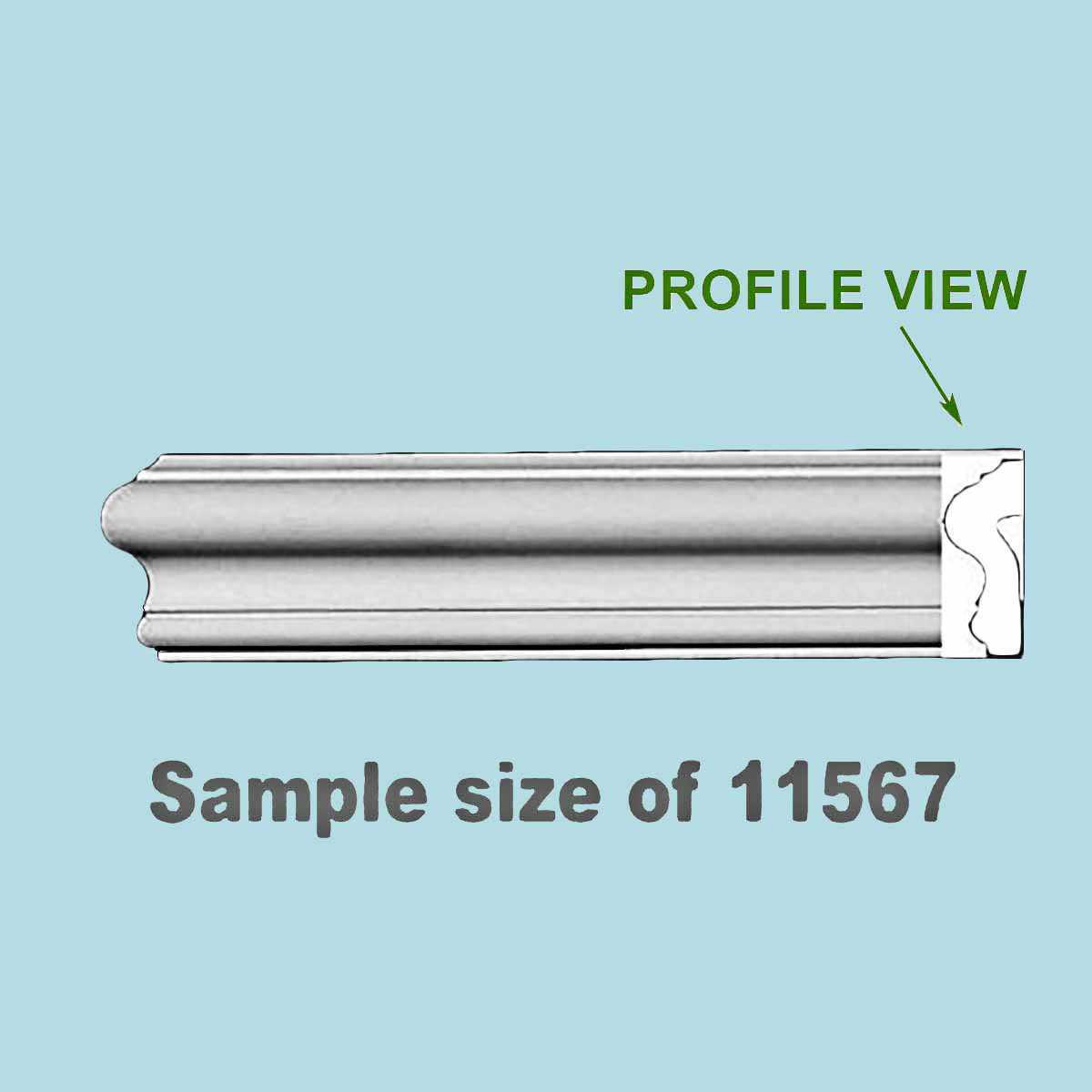 Cornice White Urethane 23.75' Sample of 11567 | Renovator's Supply
