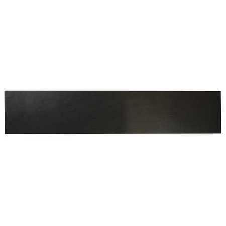 E. JAMES 1/4' Comm. Grade Neoprene Rubber Strip, 4'x36', Black, 60A, 6060-1/4Y