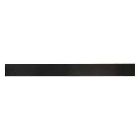 E. JAMES 3/8' Comm. Grade Buna-N Rubber Strip, 2'x36', Black, 70A, 4070-3/8X
