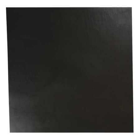 E. JAMES 1/4' Comm. Grade Buna-N Rubber Sheet, 12'x12', Black, 60A, 4060-1/4A