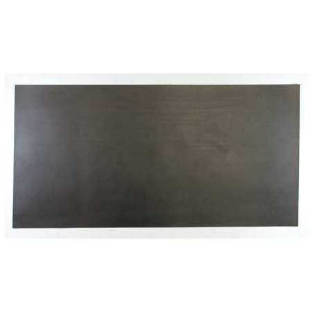 E. JAMES 1/8' 2-Ply Cloth Inserted Neoprene Rubber Sheet, 24'x12', Black, 60A, 7710-1/8NEO2-B