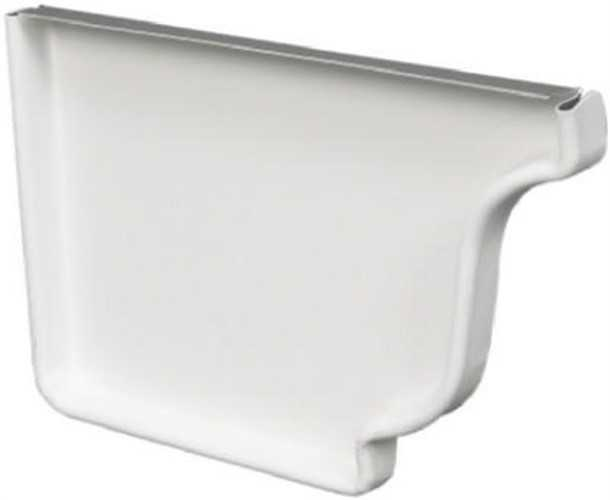 Amerimax 27005 Left End Gutter End Cap, For Use with Left End of Gutter Run, 5 in L, Aluminum