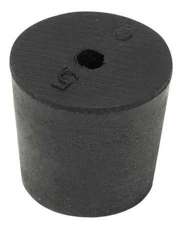 2-1H Stopper, 25mm, Rubber, Black, PK 25