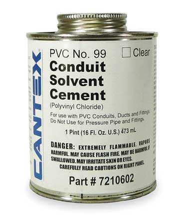 CANTEX 7210602 Cement,Low VOC,16 Oz,Clear