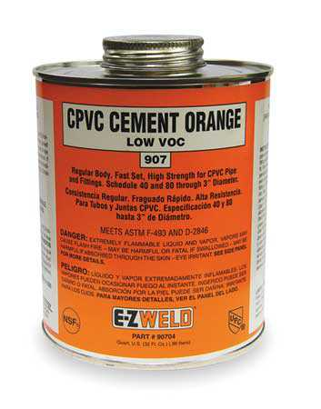 EZ WELD 90704 CPVC Cement,32 Oz,Orange