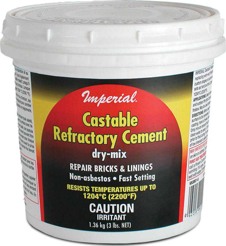 Imperial KK0062 Dry Mix Castable Refractory Cement, 5.4 kg, Tub, Tan To Gray, Powder