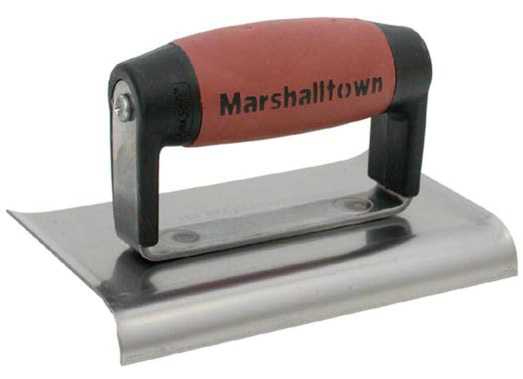 Marshalltown 136SSD 3' X 6' Curved End Stainless Steel Edgers