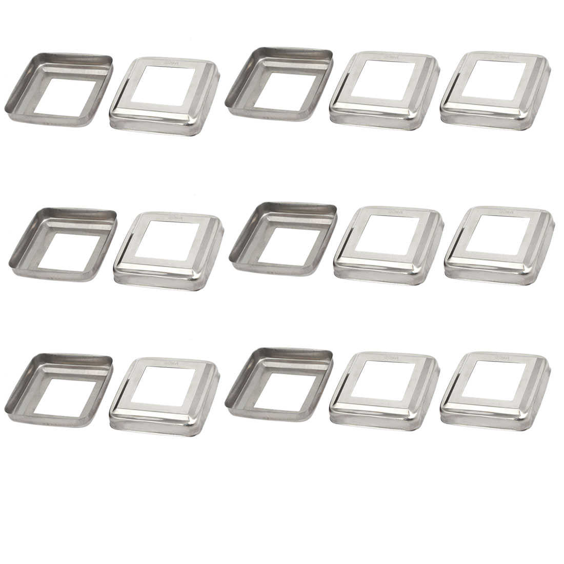 15pcs Ladder Handrail Hand Rail 38mm x 38mm Post Plate Cover 304 Stainless Steel