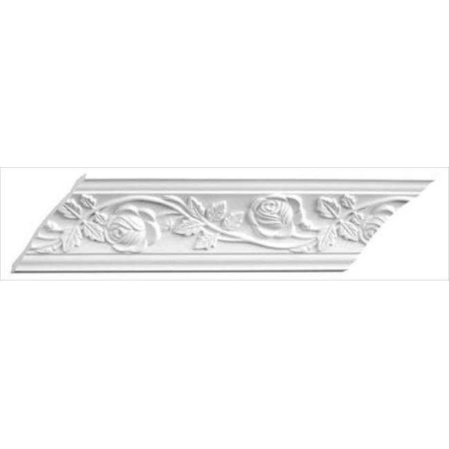 American Pro Decor 5APD10066 94.5 x 3.37 in. Floral Crown Moulding