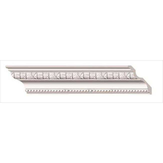 American Pro Decor 5APD10083 96 x 4.62 in. Laurel Leaves And Ribbon Crown Moulding