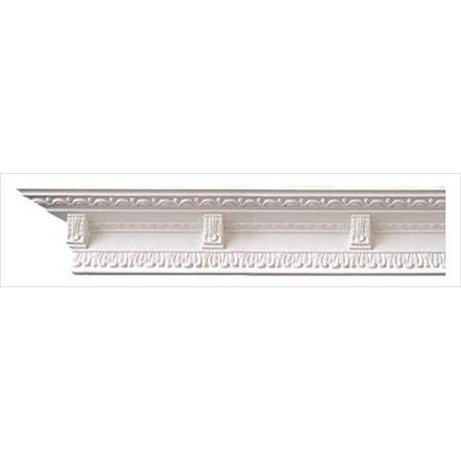 American Pro Decor 5APD10059 94.5 x 3.5 in. Lambs Tongue And Corbels Crown Moulding