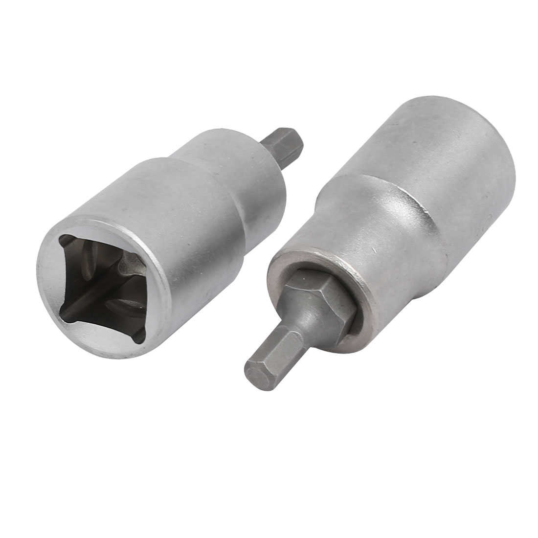 H5 Hex Head 1/2-inch Square Chrome Vanadium Steel Drive Socket Adapter 2pcs