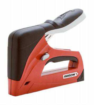 Red Heavy Duty Staple Gun Tacker and Brad Nailer Ergonomic Soft Rubber G