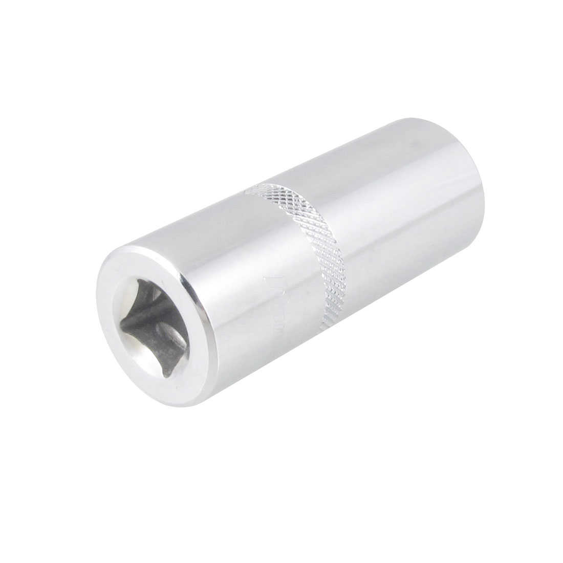 Unique Bargains Silver Tone Chrome-vanadium Steel 1/2' Drive 22mm 6 Points Hex Socket Cylinder
