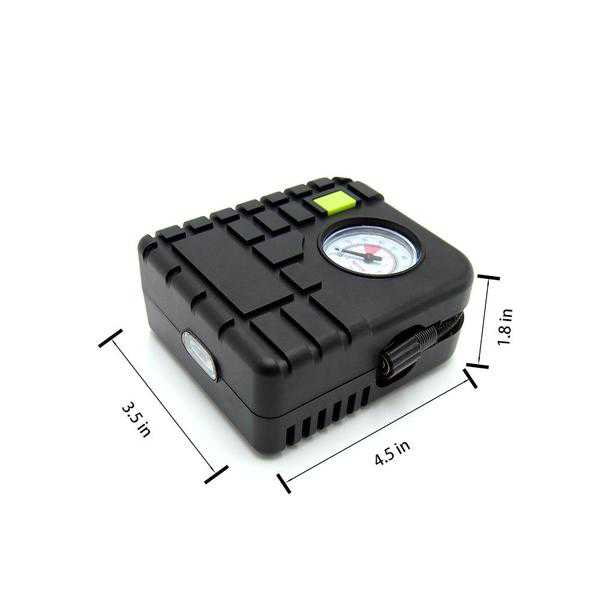 Autolizer DC 12V Portable LED Mini Air Compressor Tire Inflator 9.84ft Cord with Cigarette Plug Pump to 100 PSI