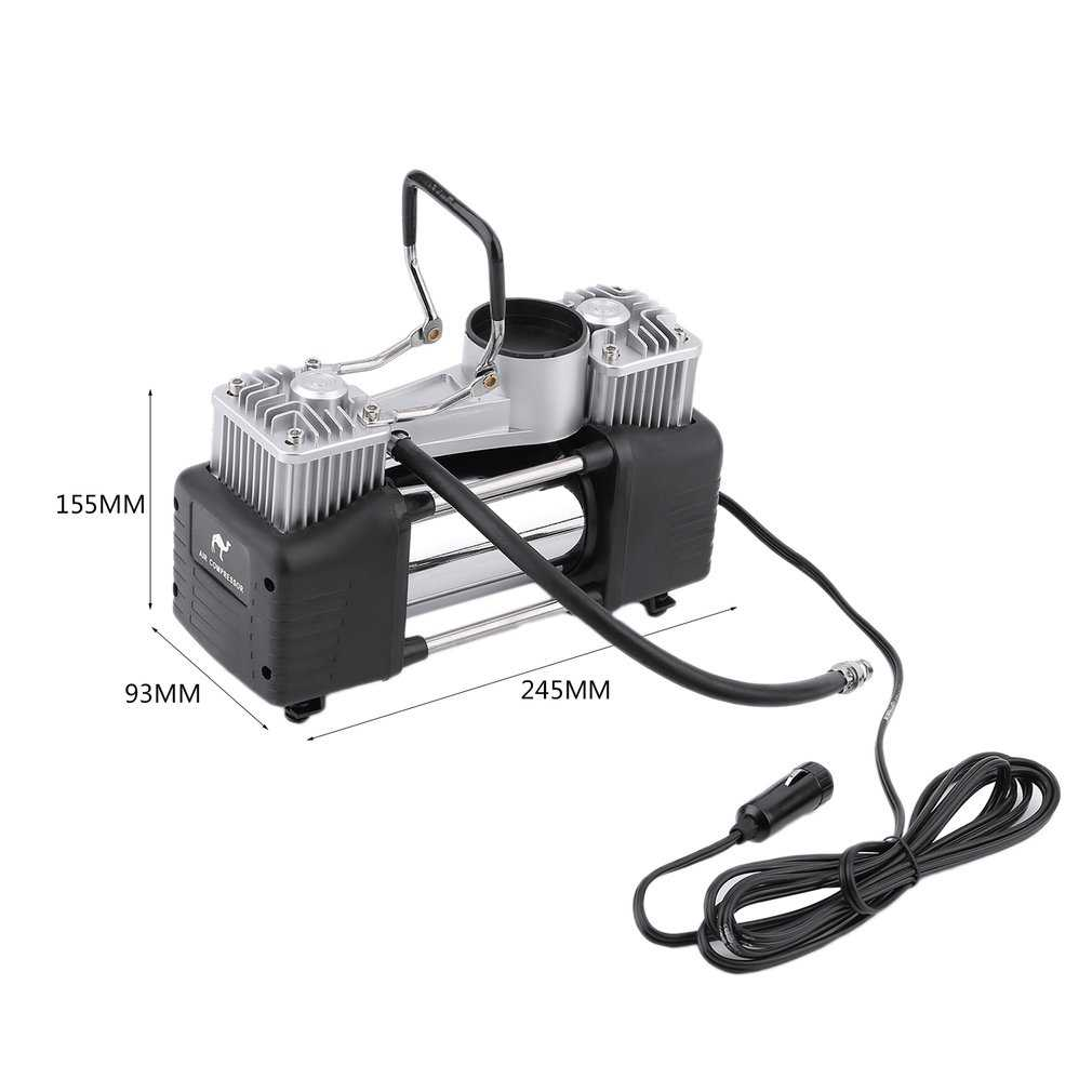 12V Portable Heavy Duty Pump Electric Tire Inflator Car Air Compressor 150PSI For Inflating Balls Toys Car Tyre