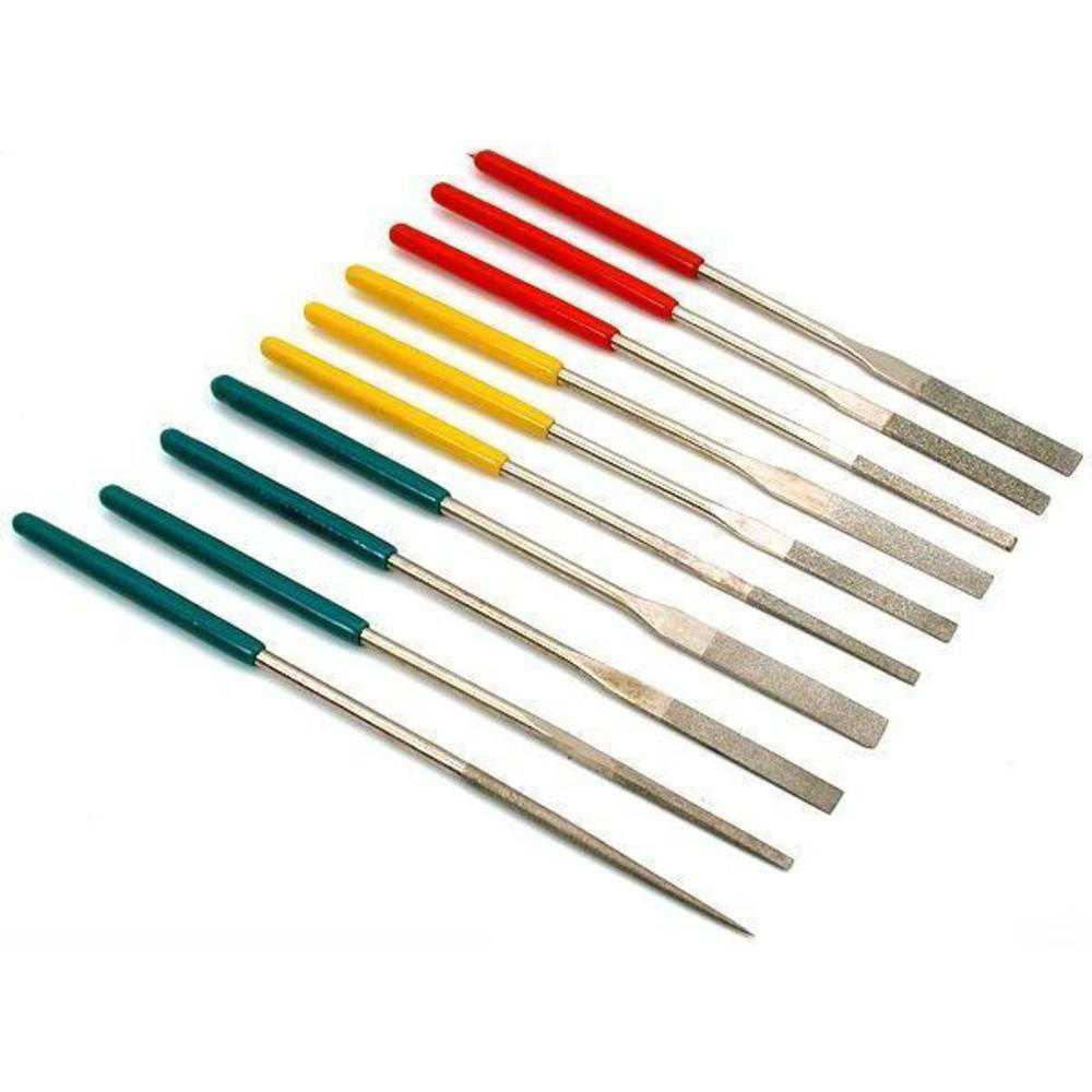10 Diamond Needle Files Jewelers Lapidary Filing Tools