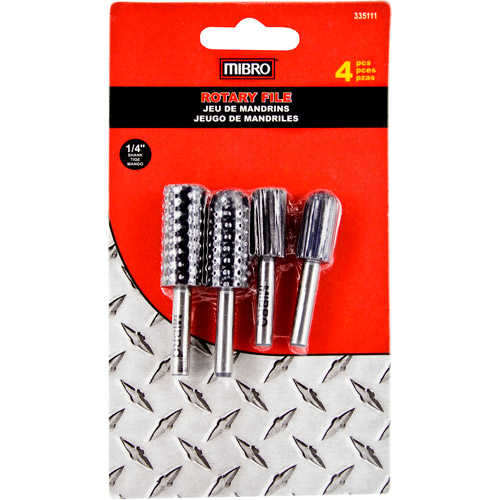 Mibro 335111 4-Piece 1/4' Rotary File Set