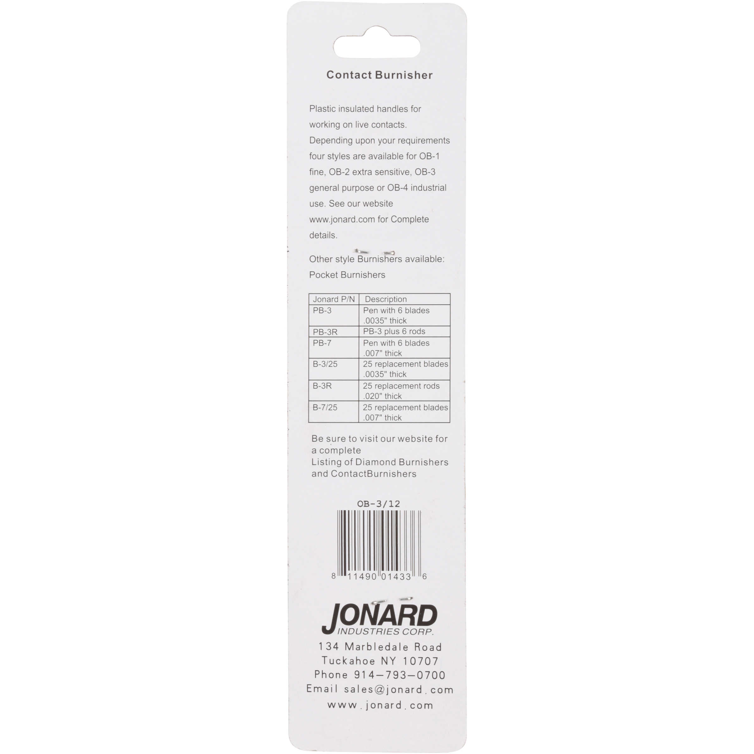Jonard Contact Burnishers 16 pc. Box