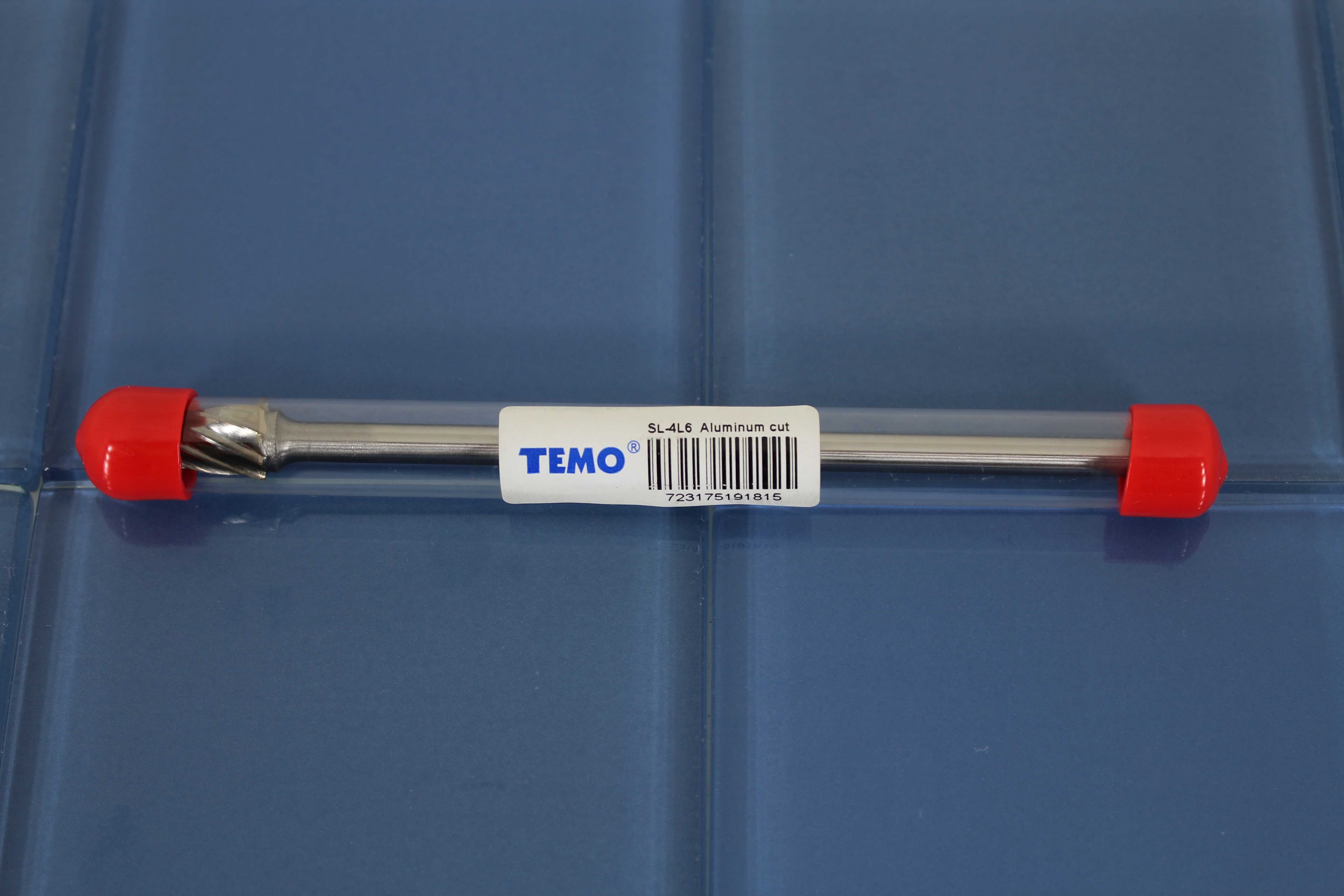 TEMO SL-4L6 NF Aluminum Cut Carbide Rotary Burr File, 1/2 inch (12.7mm) HEAD 14 degree Cone, 1/4 inch (6.35mm) Diameter 6 inch (152mm) Long Shank