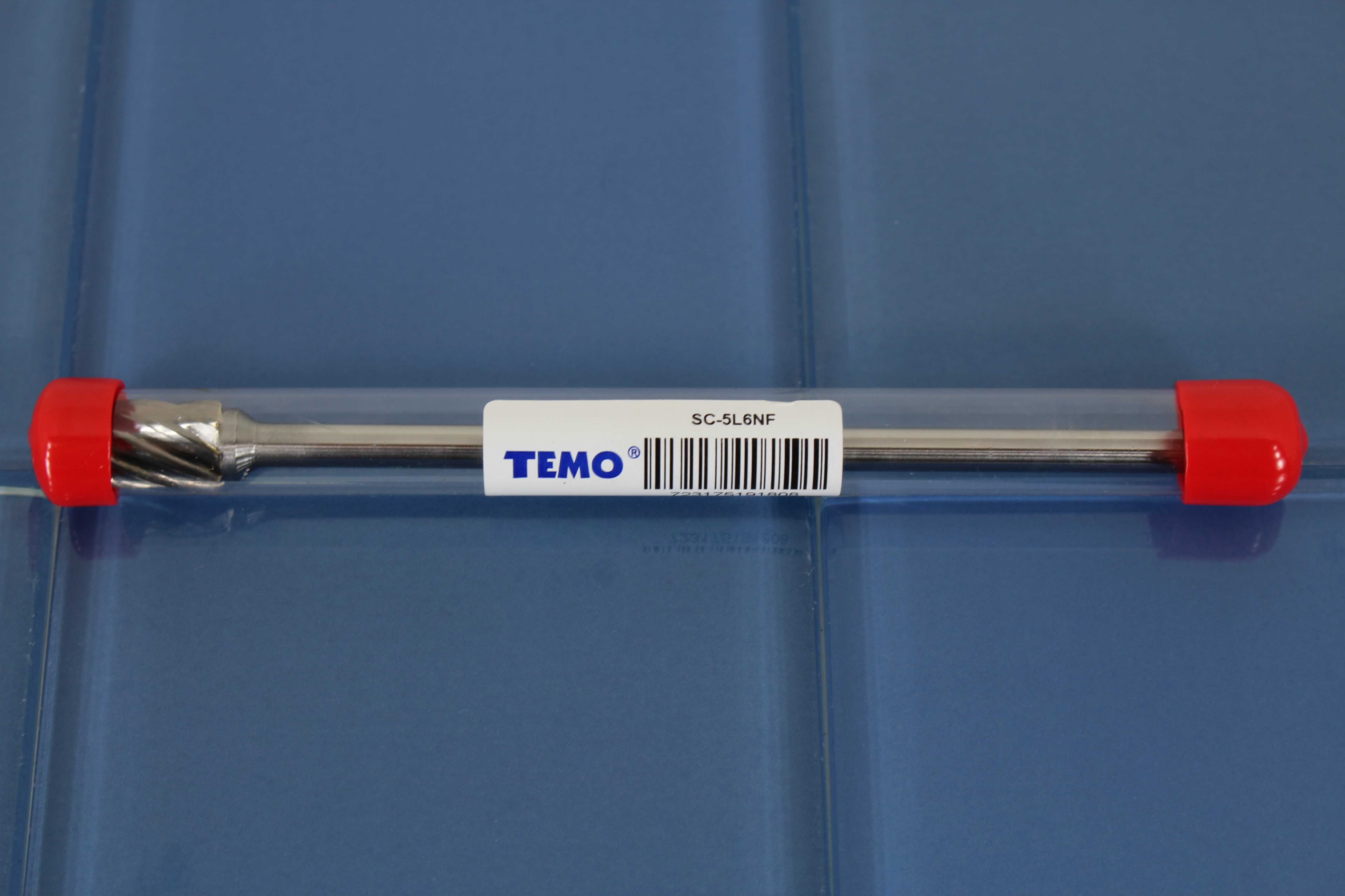 TEMO SC-5L6 NF Aluminum Cut Carbide Rotary Burr File, 1/2 inch (12.7mm) Head Cylinder Ball, 1/4 inch (6.35mm) Diameter 6 inch (152mm) Long Shank