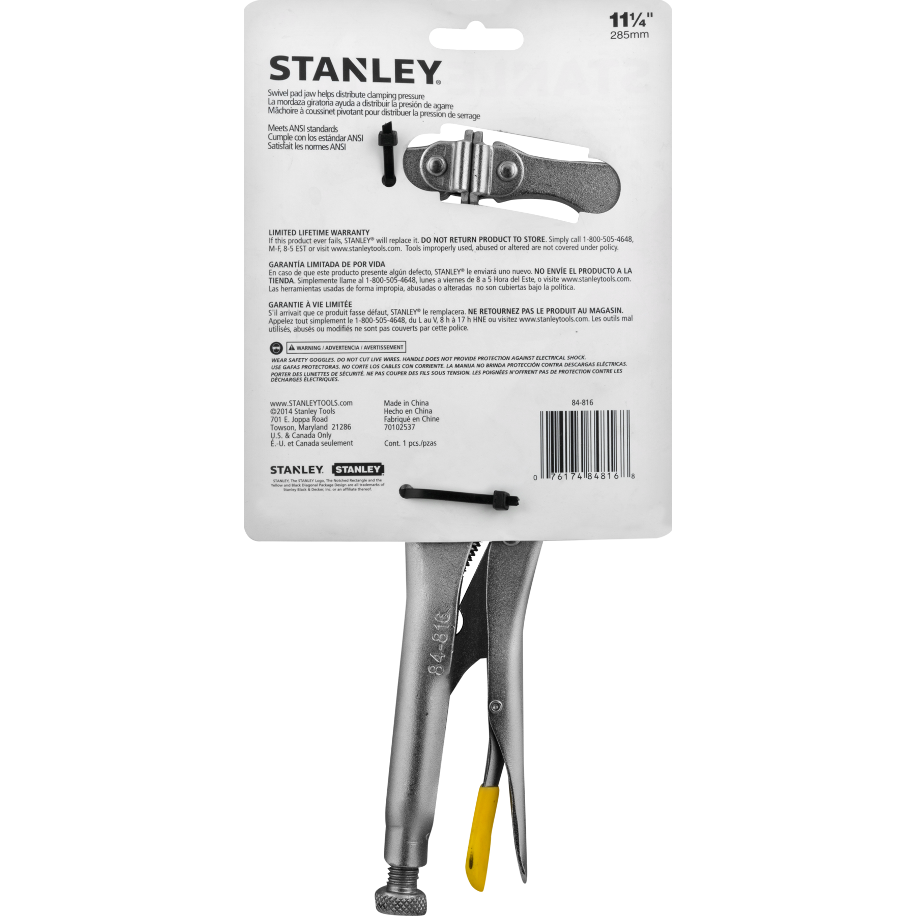 Stanley Locking C - Clamp Pliers 11 1/4', 1.0 CT