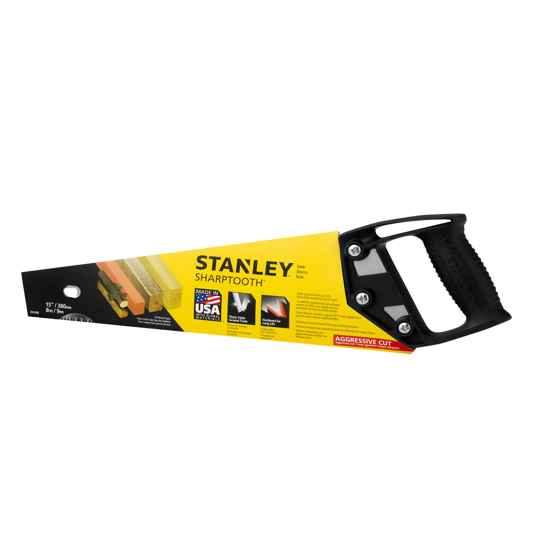 Stanley Sharp Tooth Saw, 1.0 CT
