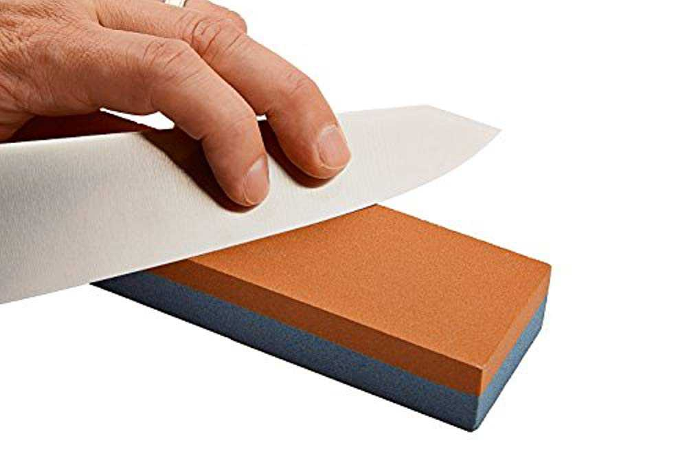 Squad Marketing 501060 8' Fine/Coarse Combination New Sharpening Store Aluminum Oxide Two Sided Stone for Sharpening Knives, Woodworking Tools and Many Others
