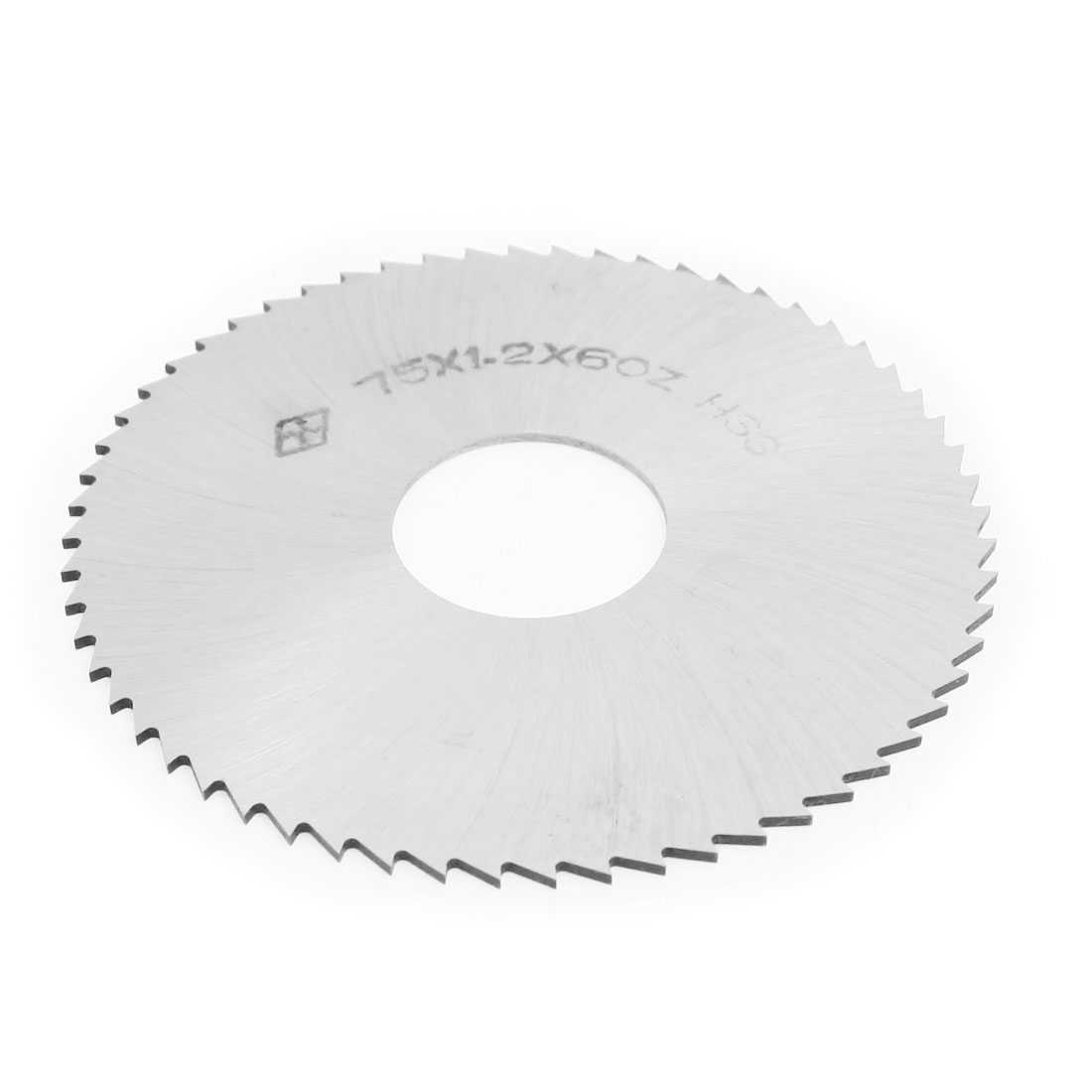 Unique Bargains Hand Tool 60 Tooth Silver Tone HSS Slitting Saw 75mmx22mmx1.2mm