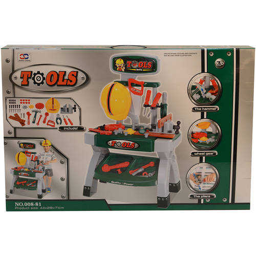 Kids Adventure 40-Piece Tool Work Bench Table Set