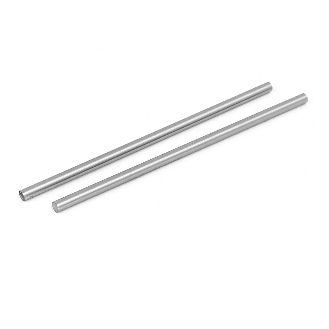 3.5mm Dia 100mm Length HSS Round Shaft Rod Bar Lathe Tools Gray 2pcs