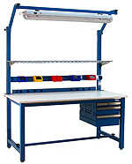 BenchPro KD3072 Kennedy Heavy Duty Steel Production Bench with ESD Anti Static Top, 6600 lbs Capacity, 72' Width x 30' Height x 30' Depth