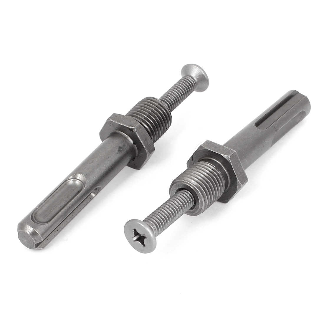 Unique Bargains 2 Pcs Power Tool SDS Plus Shank 1/2'-20UNF Thread Drill Chuck Adapter w Screw