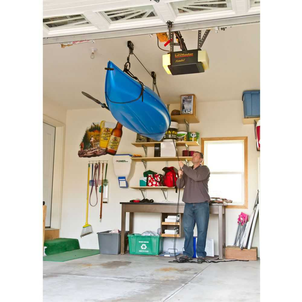 2-Pack Ceiling Mount Canoe & Kayak Storage Hoist