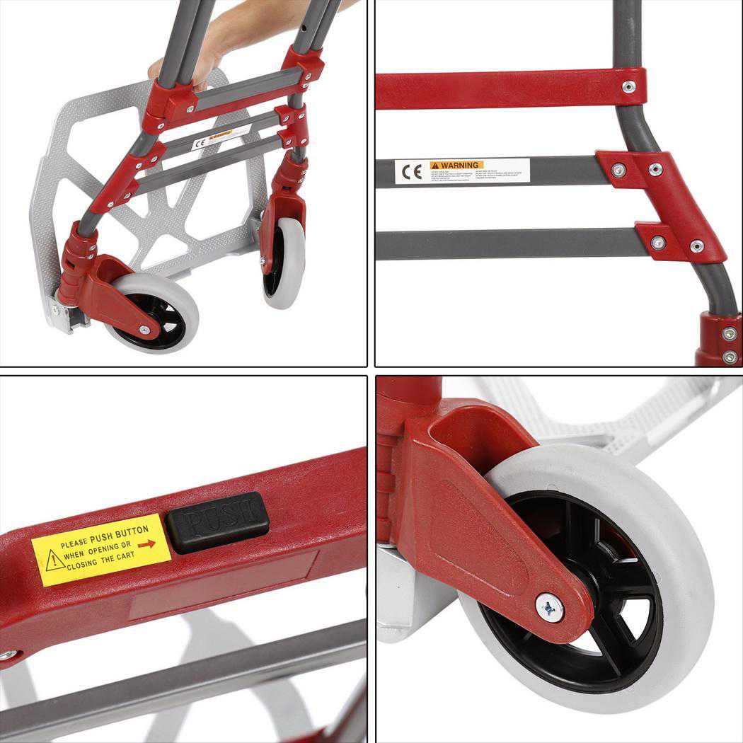Foldable 165 lbs Capacity Aluminum Folding Dolly Hand Truck BEDTS