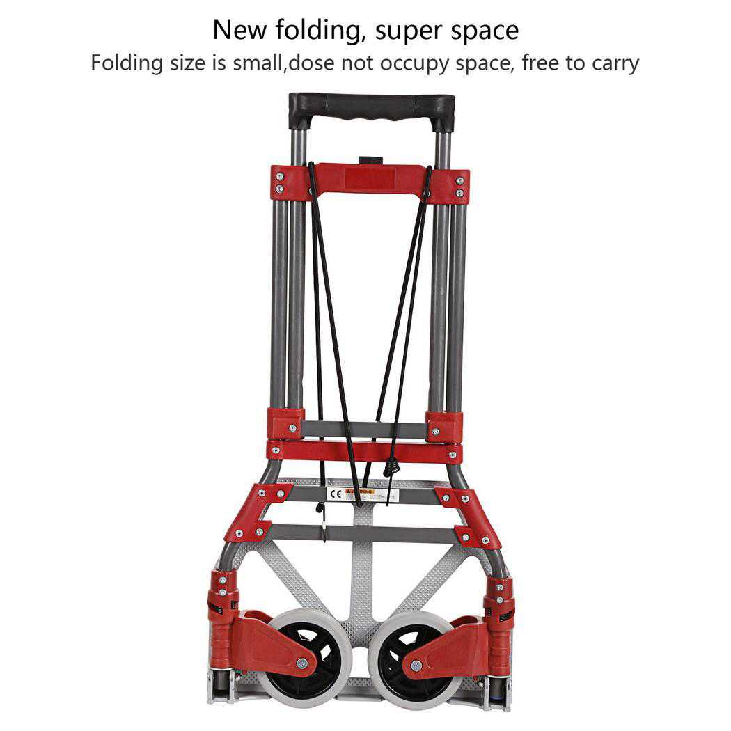 Foldable 165 lbs Capacity Aluminum Folding Dolly Hand Truck BYE