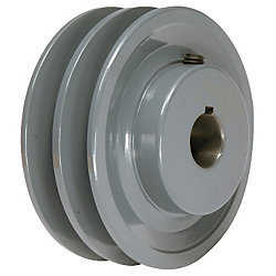 4.45' X 7/8' Double Groove AK Fixed Bore Pulley # 2AK46X7/8