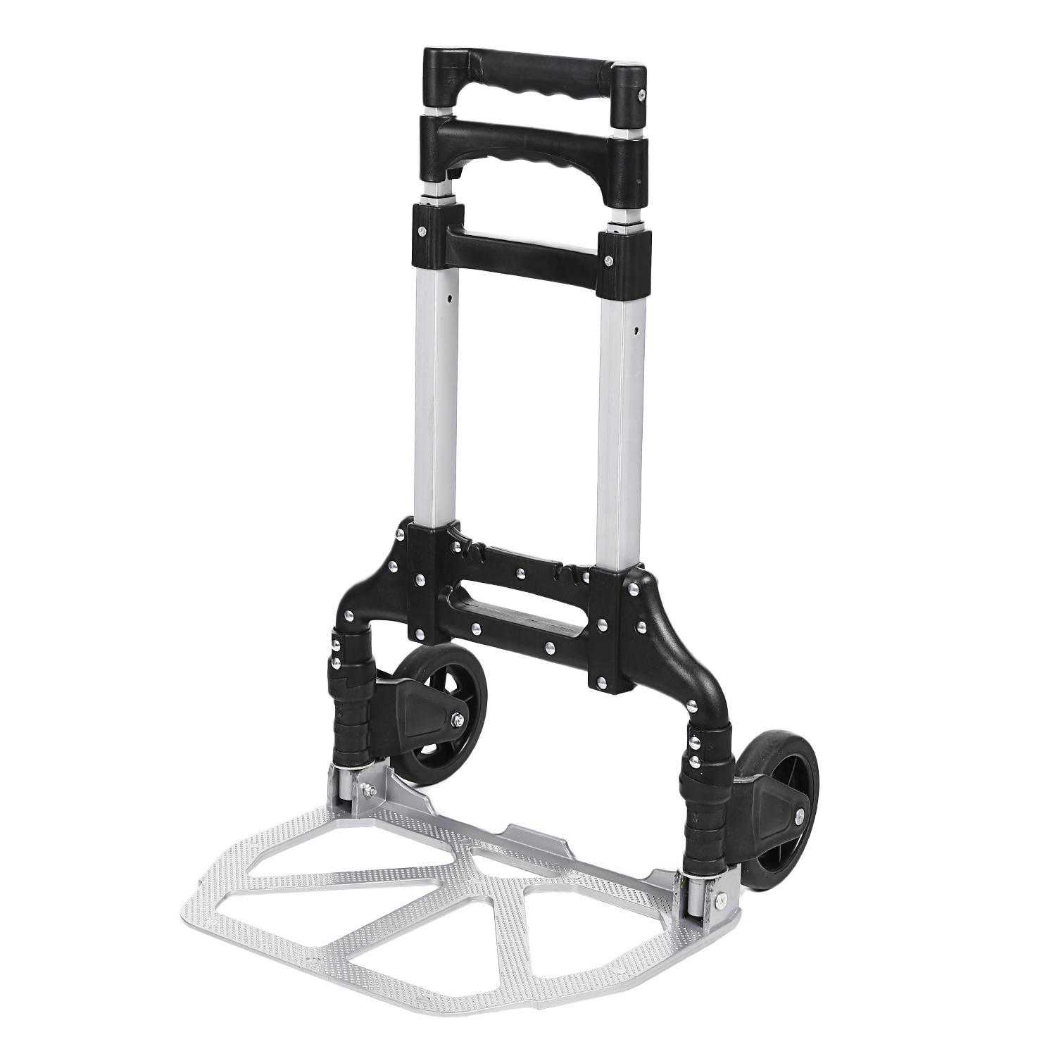 Folding Telescoping Portable 150 lbs Hand Truck Dolly Luggage Carts Aluminum Alloy ANGHE