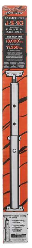 Tiger Brand Jack Post JS-93 Jack Post, 15-Gauge, Adjusts From 4' 5' To 7' 9'