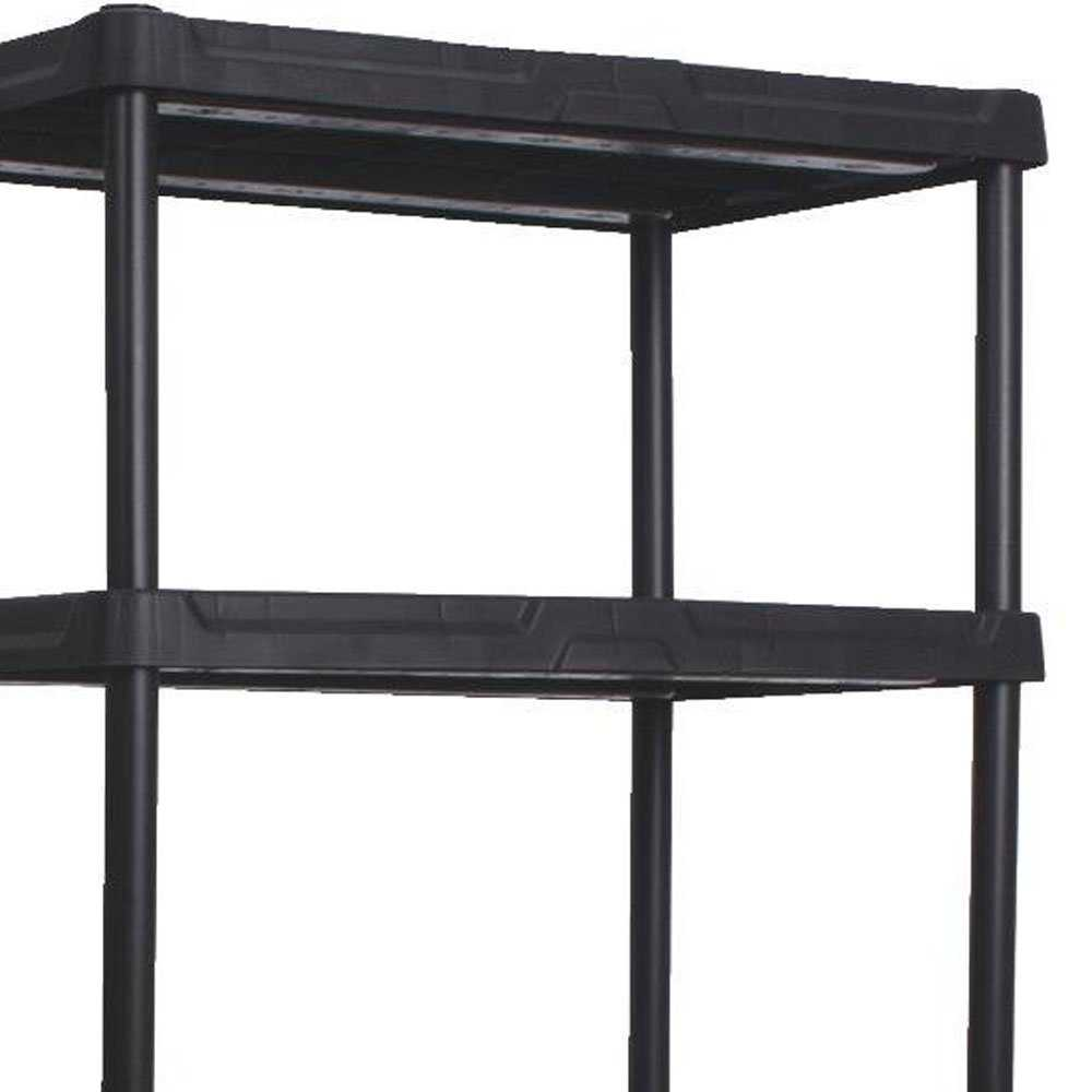 Contico 36 x 18 x 72 Inches 5 Tier Resin Outdoor and Garage Storage Shelf, Black