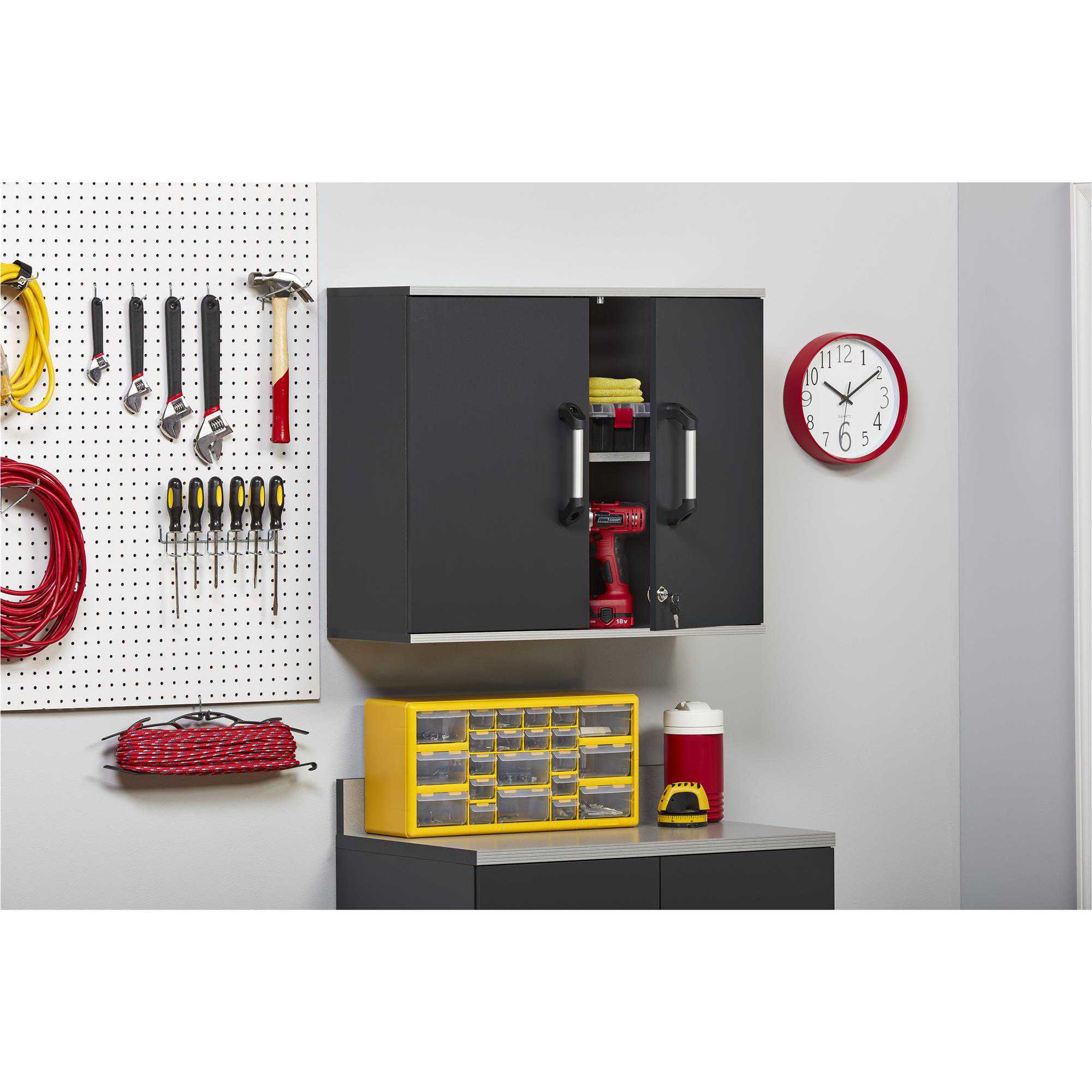 SystemBuild Boss Wall Cabinet, Gray