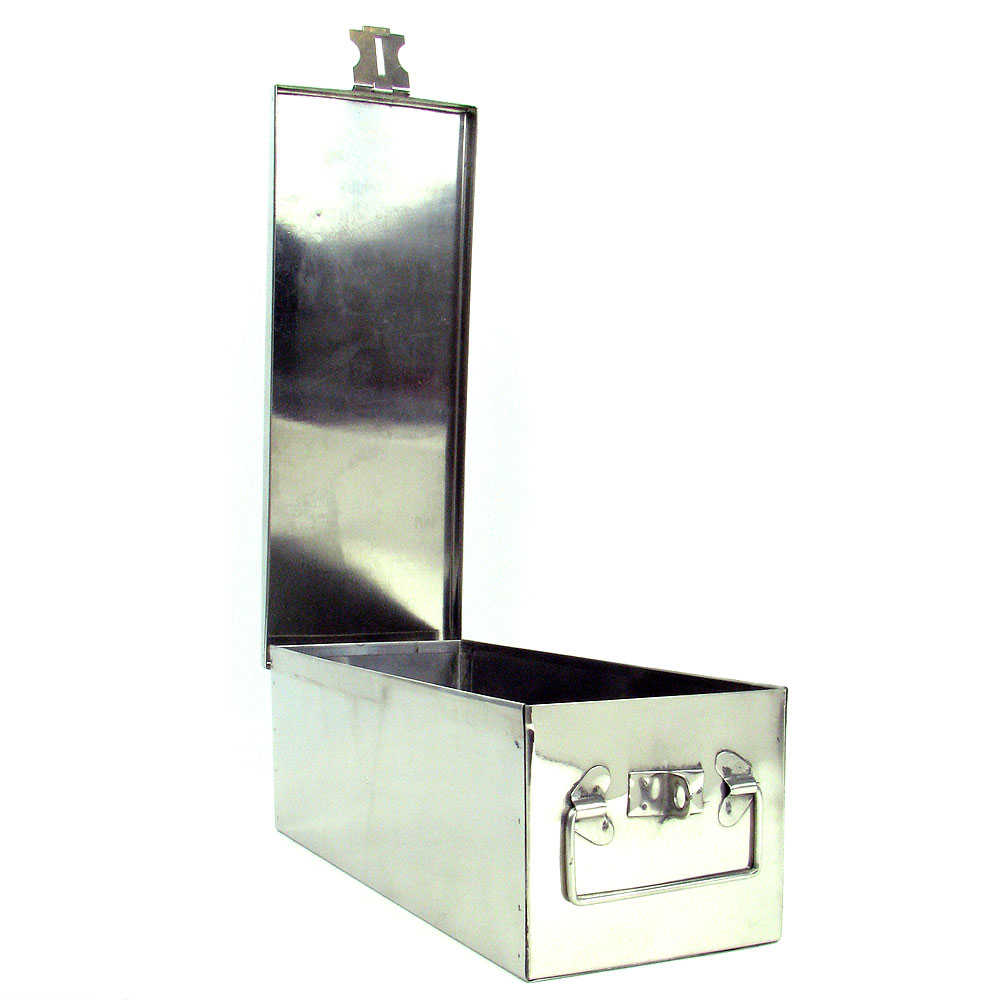 Stalwart 12 inch Metal Storage Lock Box with Handle