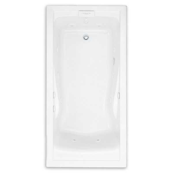 American Standard Evolution 72 Inch by 36 Inch Deep Soak EverClean Whirlpool 7236VC.020 White