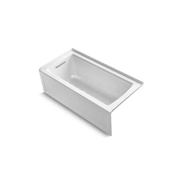 Kohler K-1946-La Archer 60' X 30' Alcove Bath With Integral Apron, Integral Flange And Left-Hand Drain