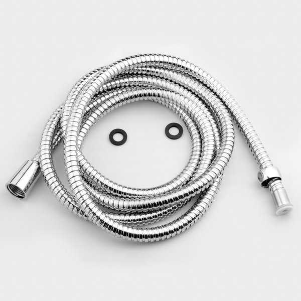 AKDY SH0071 8Ft Extra Long 96' Stainless Steel Standard Bath Handheld Shower Head Pipe Hose