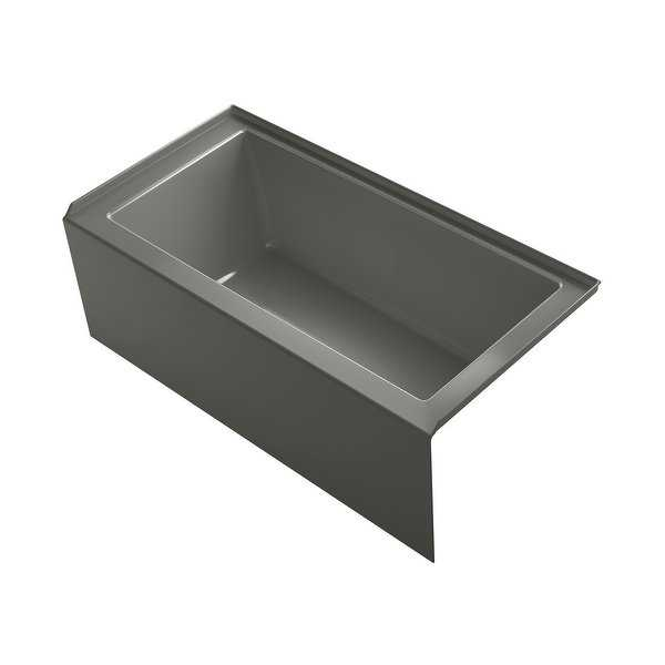 Kohler K-1956-RA Underscore 60' Soaking Bathtub for Three Wall Alcove Installation with Right Hand Drain