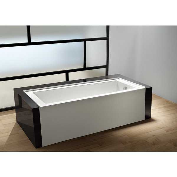 Contemporary 60-inches Drop-in Alcove Acrylic Bathtub