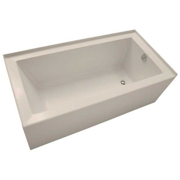 Mirabelle MIRSKS6030R Sitka 60' X 30' Acrylic Soaking Bathtub for Three Wall Alcove Installations with Right Drain